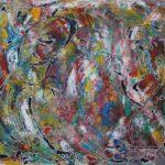 Abstrakte Malerei - www.atelier-teltow.de - Titel: Chupacabra