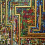 Abstrakte Malerei - www.atelier-teltow.de - Titel: Lwaxana