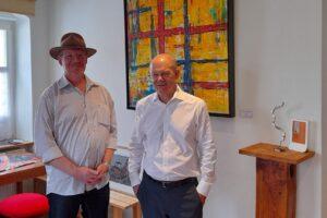 Olaf Scholz zu Besuch im Atelier-Teltow